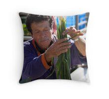 Farmers Market Spring Onions Throw Pillow