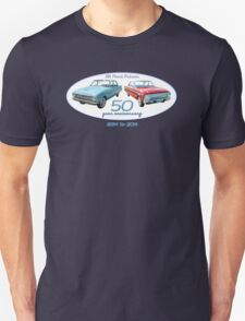 XM Falcon 50 year anniversary (white background) Unisex T-Shirt