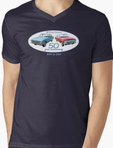 XM Falcon 50 year anniversary (white background) Mens V-Neck T-Shirt