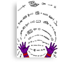 Magneto field Canvas Print