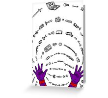 Magneto field Greeting Card