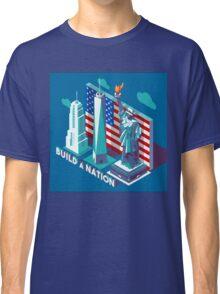 NYC Monuments Landmarks Isometric Classic T-Shirt