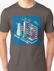 NYC Monuments Landmarks Isometric T-Shirt