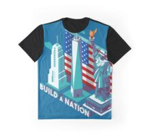 NYC Monuments Landmarks Isometric Graphic T-Shirt