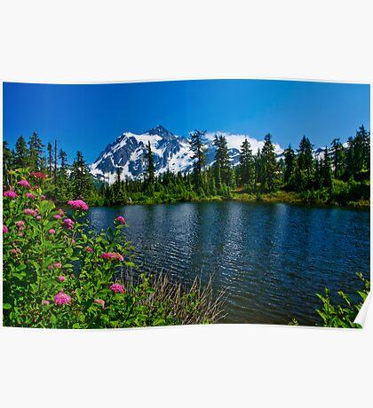 Mount Shuksan and Highwood Lake Poster
