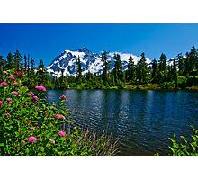 Mount Shuksan and Highwood Lake Photographic Print