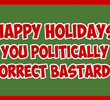 Funny Christmas card for PC bastards by Sevetheapeman