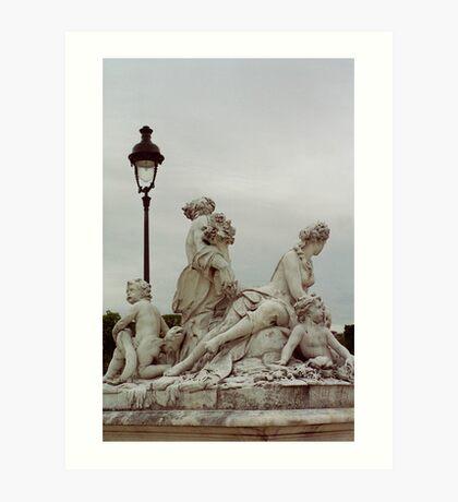 Sculptures, Paris Art Print