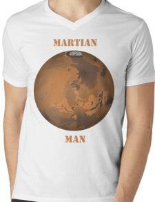 Martian Man T Shirt Mens V-Neck T-Shirt