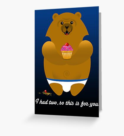 I HAD TWO... Greeting Card