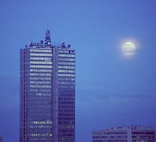 Full Moon over Brussels by KUJO-Photo