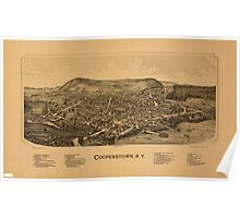 Panoramic Maps Cooperstown NY Poster