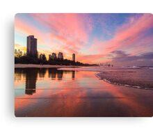 Sunset Burleigh Beach Canvas Print