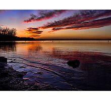 Beautiful Lakeshore Sunset Photographic Print