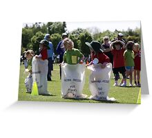 Sporting Sack Race Greeting Card