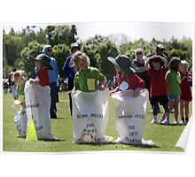 Sporting Sack Race Poster