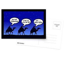 Funny 3 wise men Christmas Postcards