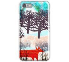 Dotty Fox in the winter reeds iPhone Case/Skin