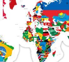 Traveler World Map Flags  Sticker