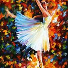 SWAN LAKE- OIL PAINTING BY LEONID AFREMOV by Leonid  Afremov