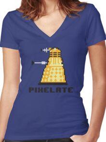 Pixelate Women's Fitted V-Neck T-Shirt