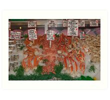 Fresh Fish in Pike Place Market, Seattle, USA Art Print