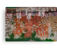 Fresh Fish in Pike Place Market, Seattle, USA Canvas Print