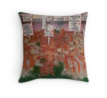 Fresh Fish in Pike Place Market, Seattle, USA Throw Pillow