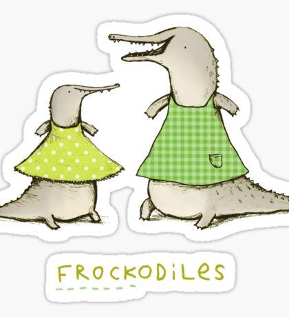 Frockodiles Sticker