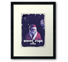 Santa Jaws in space Framed Print