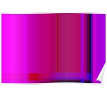 Pink Burgundy Purple Lines Abstract Poster
