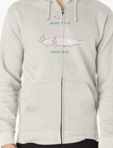 Axolittle Axolotl Zipped Hoodie