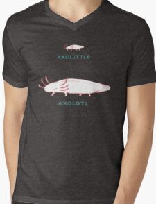 Axolittle Axolotl Mens V-Neck T-Shirt
