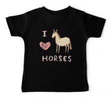 I ❤ Horses Baby Tee