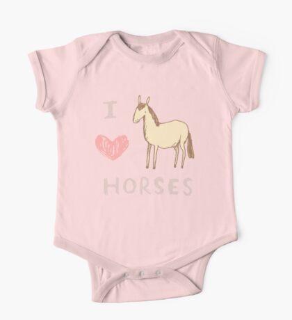 I ❤ Horses One Piece - Short Sleeve