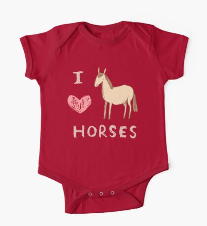I ❤ Horses One Piece - Short Sleeve
