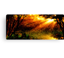 Sunrise Woods Oil Painting Canvas Print