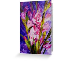 Gladiolus Glamour Greeting Card
