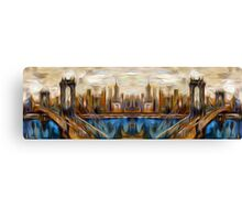 Abstract Bridge Oil Painting Canvas Print