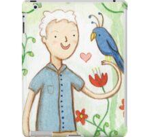 Sir David Attenborough & a Parrot iPad Case/Skin