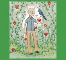 Sir David Attenborough & a Parrot Baby Tee