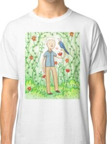 Sir David Attenborough & a Parrot Classic T-Shirt