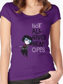 NO CAPES Women's Fitted Scoop T-Shirt