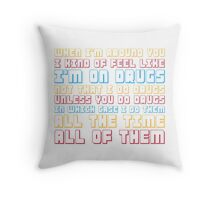 Scott Pilgrim is On Drugs Throw Pillow