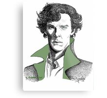 The Sherlock Variations (Green) Metal Print