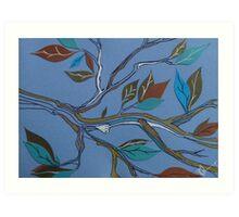 wind through the leaves Art Print