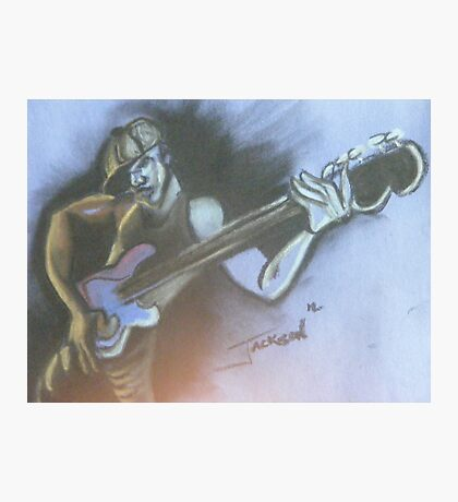 Bass Player Photographic Print