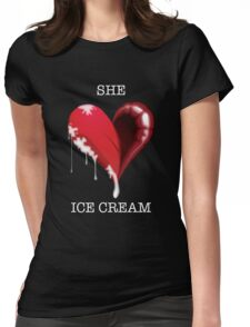 Icecream Womens Fitted T-Shirt