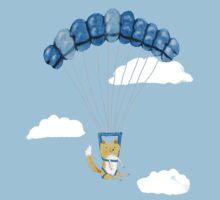 Cutie Parachuting Dog Kids Tee