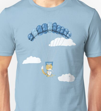 Cutie Parachuting Dog Unisex T-Shirt